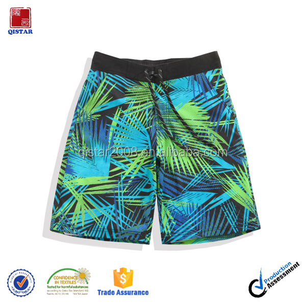 Quality Sublimation Surf Mens Shorts/ Polyester Spandex Swimming Trunks