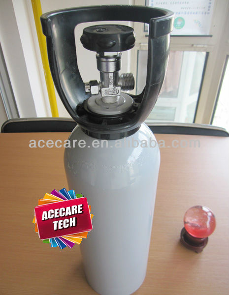 4L Aluminum Cylinder, Aluminum Tank,used to fill oxygen gas,with valve and handle
