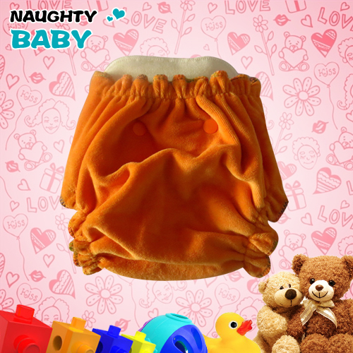 Naughtybaby Organic Bamboo Velour baby fitted Cloth diaper reusable bamboo nappy