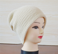 Winter 100% Acrylic Hat Women Knitted Beanie