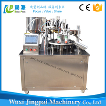 Semi automatic KINGPACK laminate soft tube filling and sealing machine for toothpaste,cosmetic etc