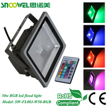 Hot sale 50w outdoor rgb led flood light AC85-265V Remote Control IP 65 Waterproof
