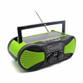Emergency Solar Hand Crank Self Powered AM/FM Radio with LED Flashlight and USB Charger