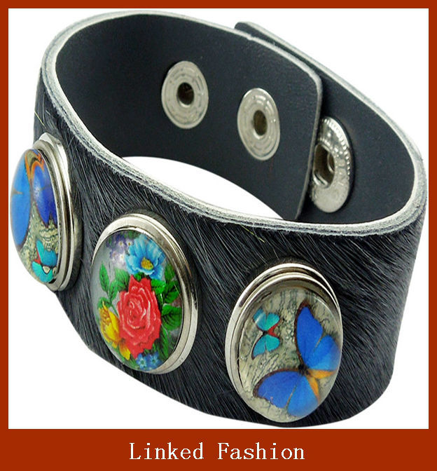 Fashion handmade real leather wristbands&leather bracelet
