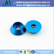 Blue Anodizing CNC Parts Dia 9.7*3.5