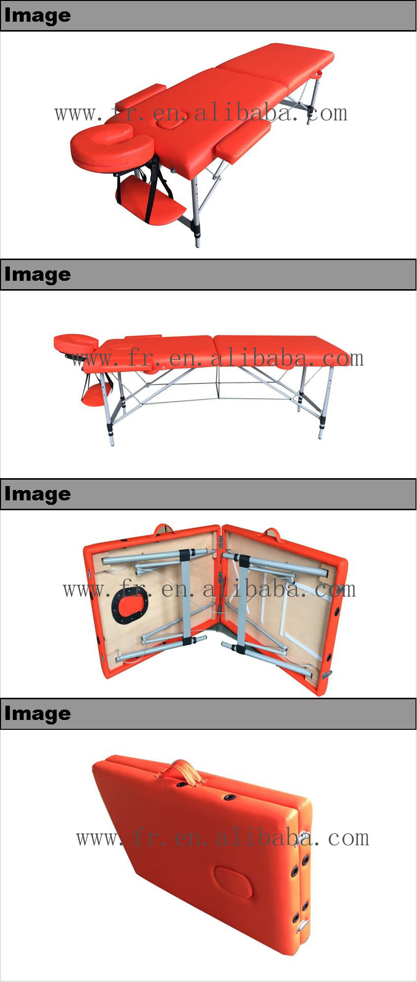 Europe popular cheap folding table de massage with carry bag for body care