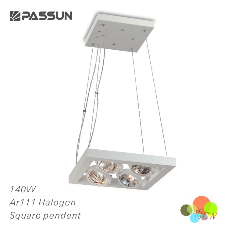 high power square halogen pendant light 140W