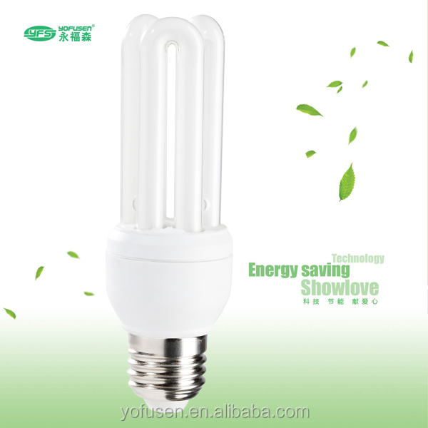 3U 26W tri-color phosphor outdoor fluorescent bulb