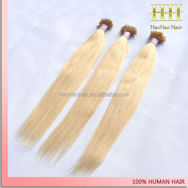 613 blonde silky straight 1g/strand nail hair remy u tip keratin human hair extension