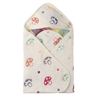 Hot Selling Super Soft 100 % Cotton Woven Hooded Kids Blanket Baby Hooded Towel