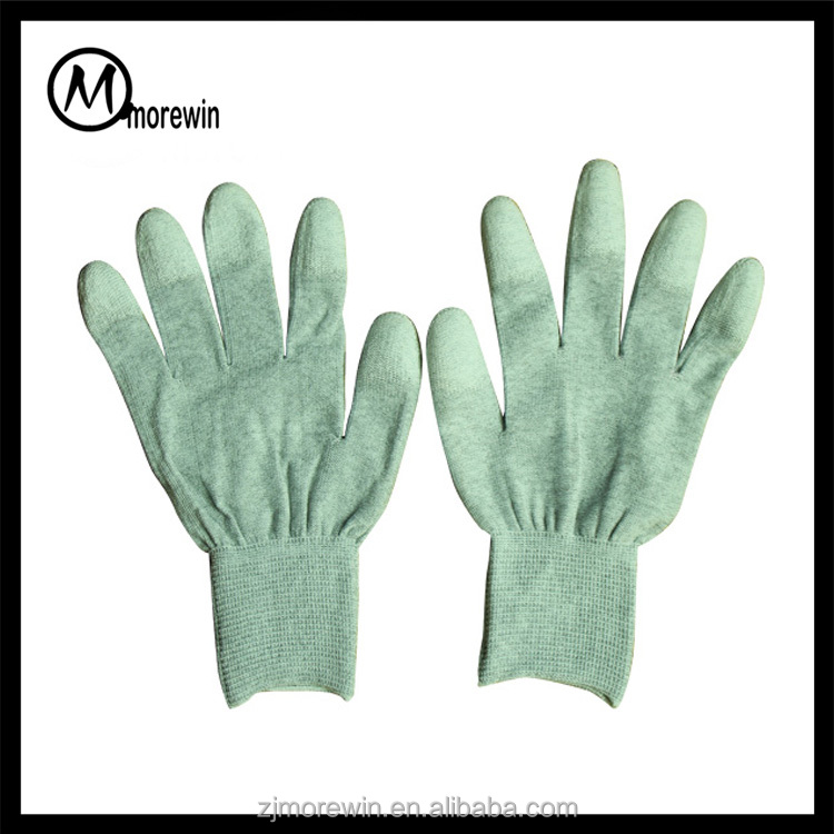 2016 Morewin polyester pu safety glove china working gloves electric hand gloves