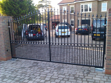 commercial boundary wall gates