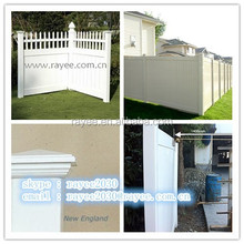 Factory Supply High Quality White 3 Rail Vinyl Horse Fence