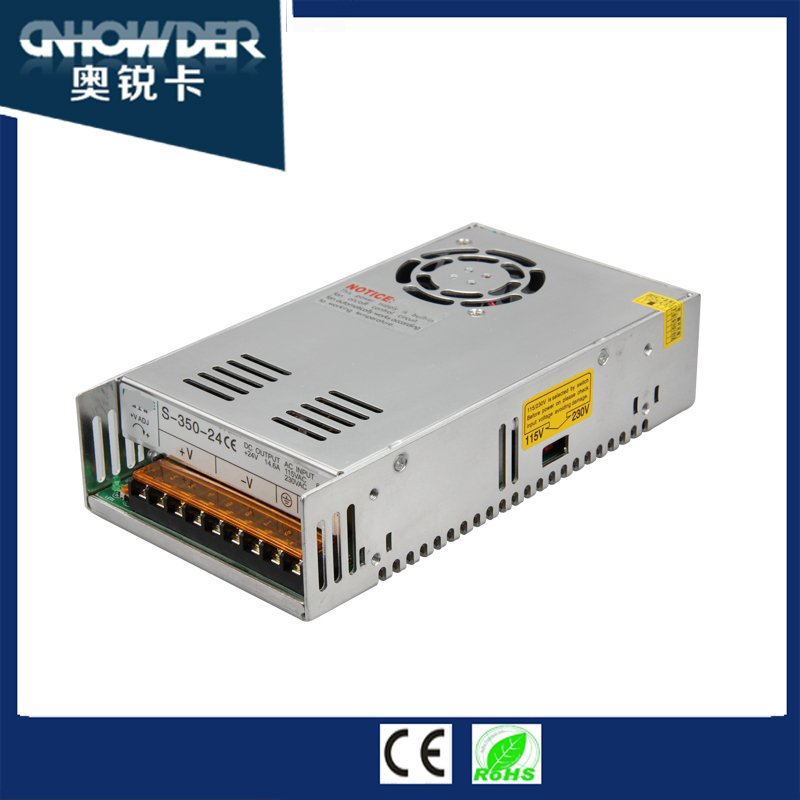 Factory price ip20 350w power supply 48v 6.7a led driver ac to dc converter 220v to 100v