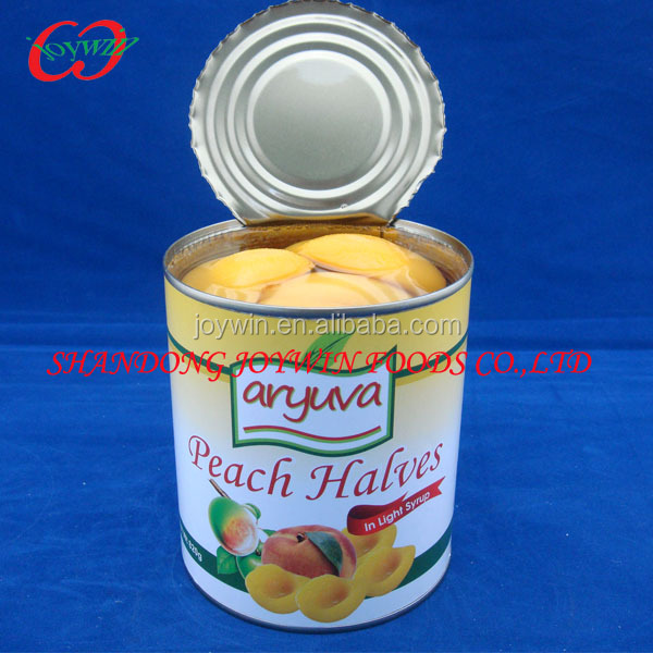China Health food, Canned yellow peaches in light/heavy syrup