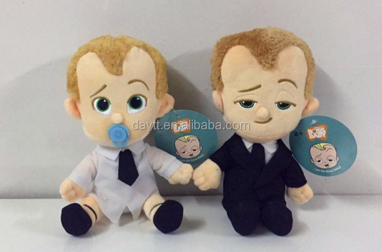 Animation toy 18cm Lindsey Templeton Boss baby with suit&forever puppy <strong>plush</strong>