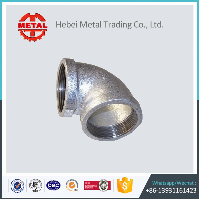 galvanized market light type malleable iron pipe fitting elbows