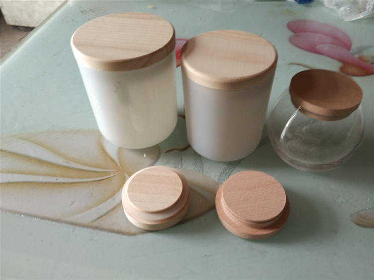 Wholesale natural wooden candle lids