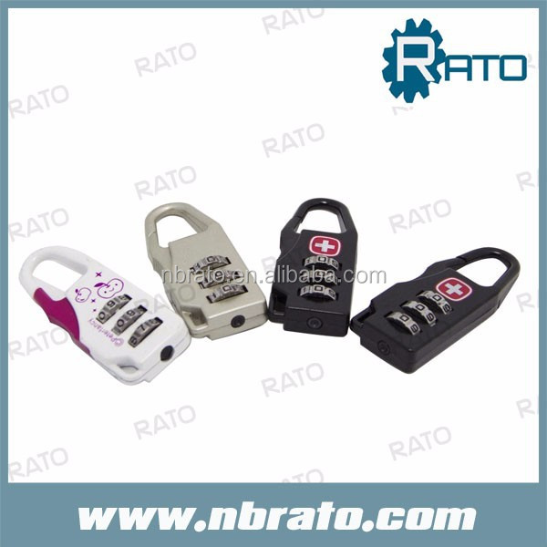 luggage code number combination zipper lock for bags