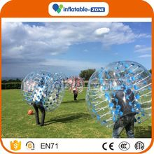 Hot sale inflatable bubble football/color dot bubbles indoor bubble football game