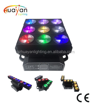 Deformation Matrix Moving Head Lights 3 bars with 9pcs RGBW 4in1 leds dj Beam