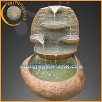 outdoor fengshui fish tank with water fountain
