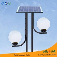 Excellent Outdoor Garden Lamp 15W Solar Powered Garden Light With Low Voltage With 30Wp Solar Panel IP65