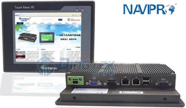 P080S Stock fanless industrial embedded 1u rack mount computer