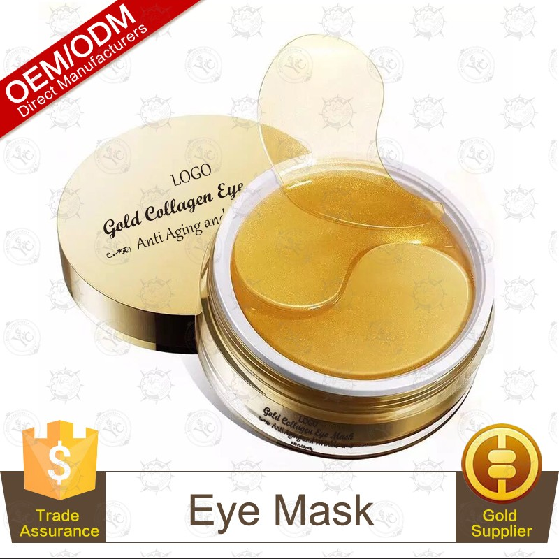 Wholesale Crystal 24K Gold Collagen Eye Mask Sheet Patch, Anti Aging, Remove Bags, Dark Circles & Puffiness
