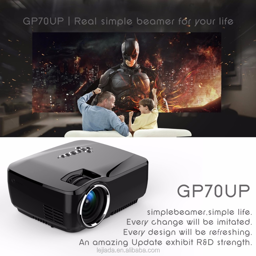 GP70UP Android4.4 Bluetooth WIFI simplebeamer (8G + 1G) Wireless 1200 lumens Portable proyektor mini proyektor di luar ruangan