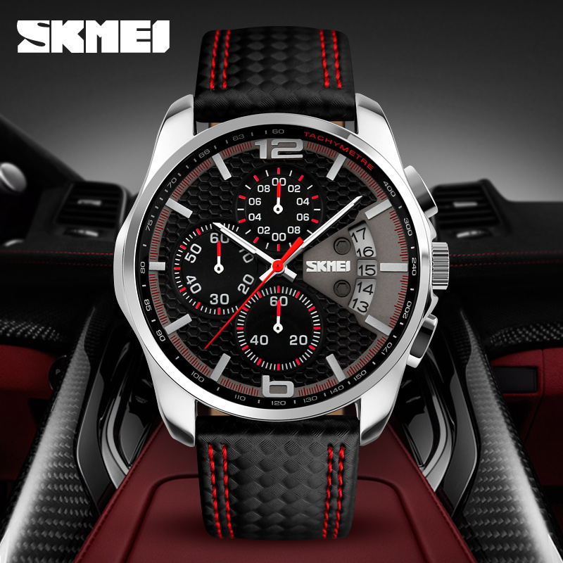 black & red wirstwatch best selling mens surface watches