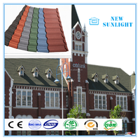 Spanish Red Color Tin Galvanized Roofing Tiles Slate Coating Roof Building Construction Materials