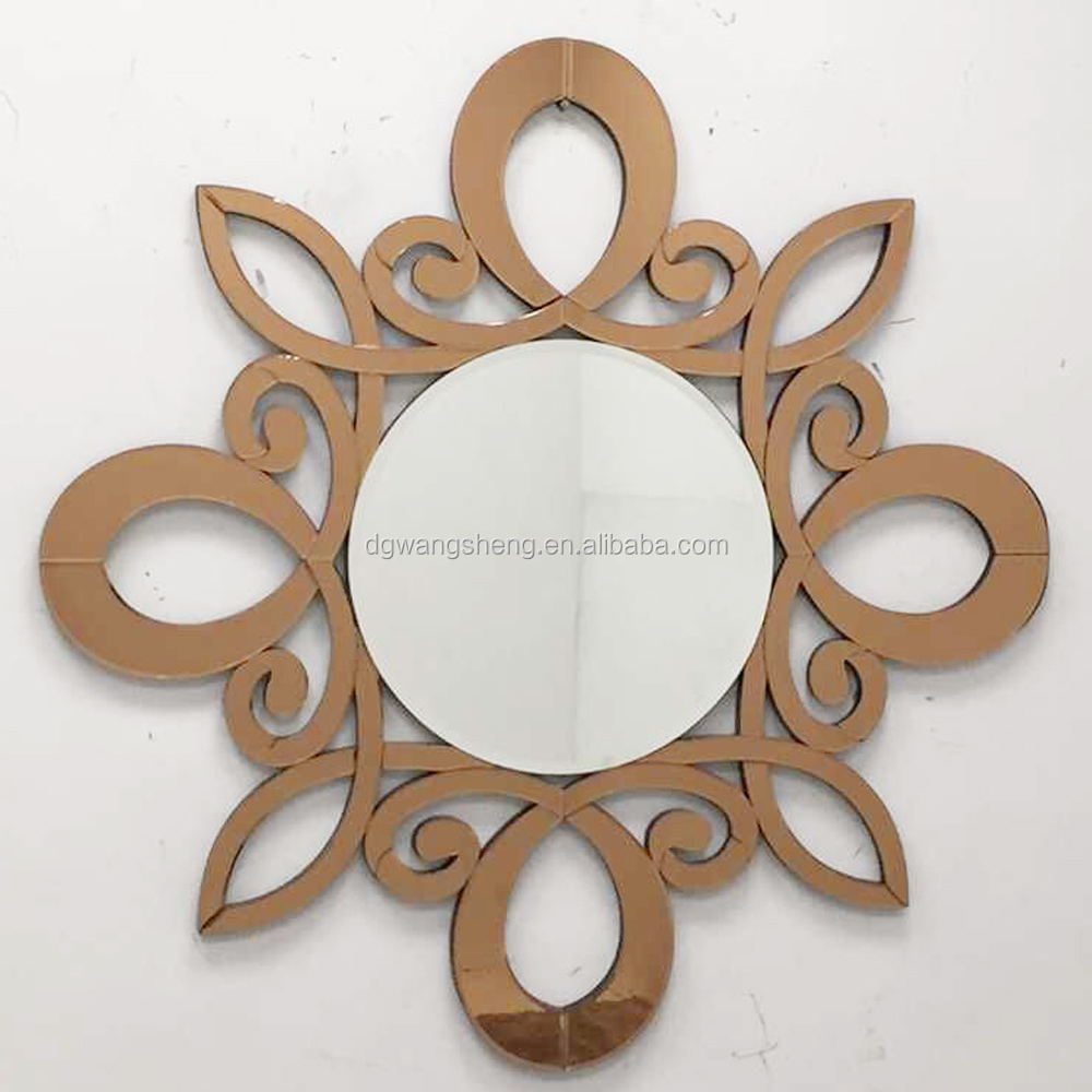 Fashion and elegant flower shape design element face hangs mirror