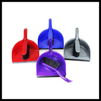 professional dustpan and brush with four colors