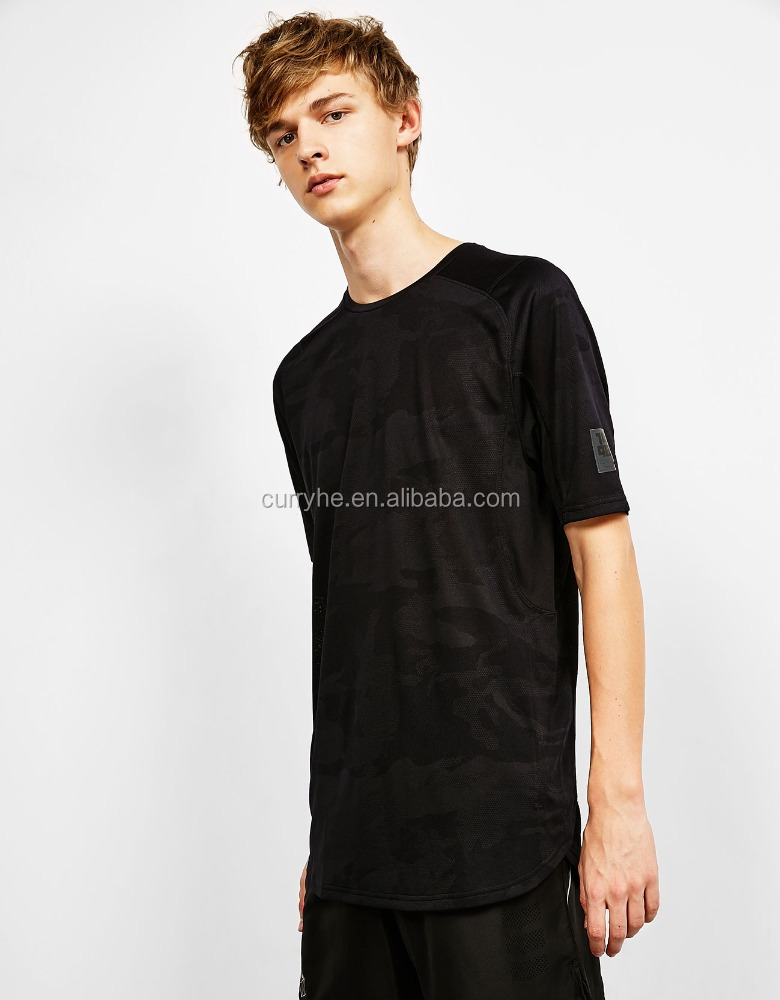 Guang Zhou Fatory OEM Service Spring/Autumn European Style Breathable Camo Black Men 100% cotton tshirt