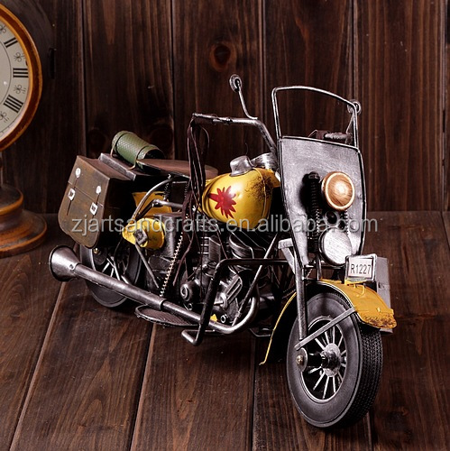 Metal classic model motorcycle kids arts and craft for cafe bar decoration