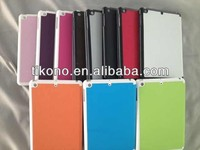 novelty popular 3 fold cross texture stand leather case for ipad mini
