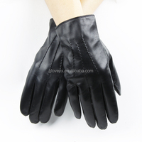 fashion man wear, black leather glove