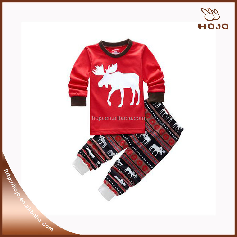 Hot sale baby clothes boutique clothing sets family Christmas pajamas