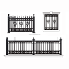 Garden Security System Painted Decorative Black Aluminum Garden Fence
