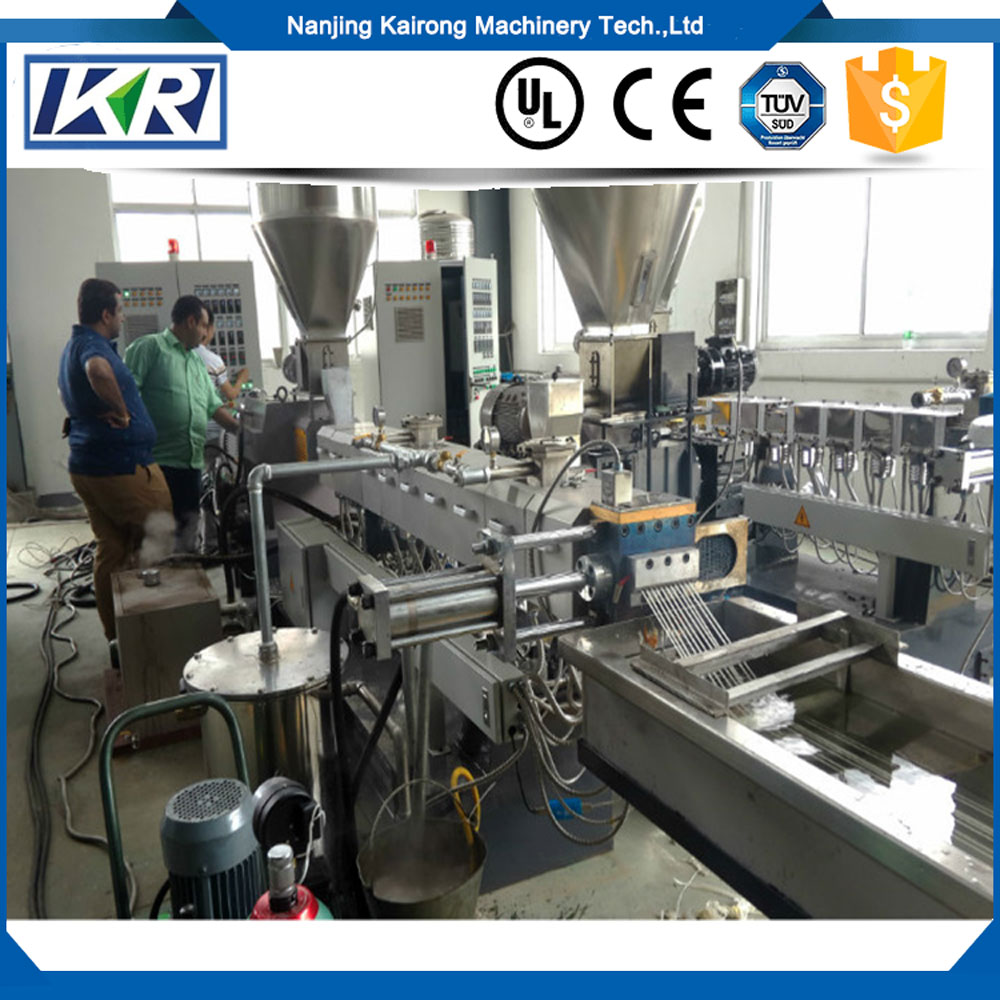 Tpu Plastic Pelletizer/ Screws Extrusion /Cable Black Pellet Making Machine