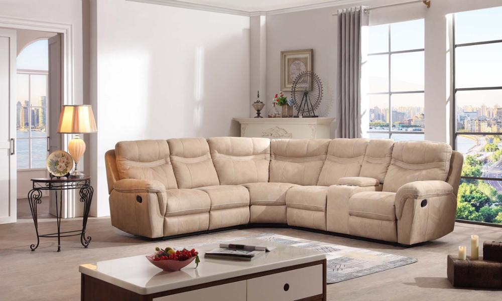 promotion price manual recliner import leather sectional