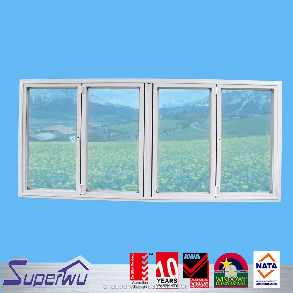 frameless folding window design double glazed accordion windows
