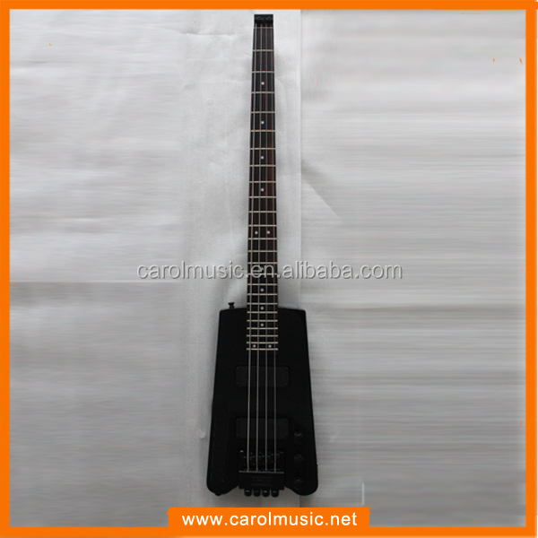 EB017 Black color headless bass Guitar for sale