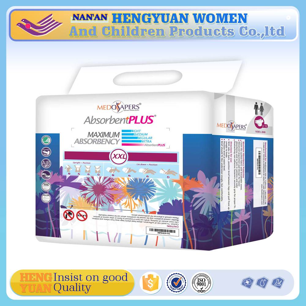 Overnight Incontinence Adult Diapers with Strong Absorbency