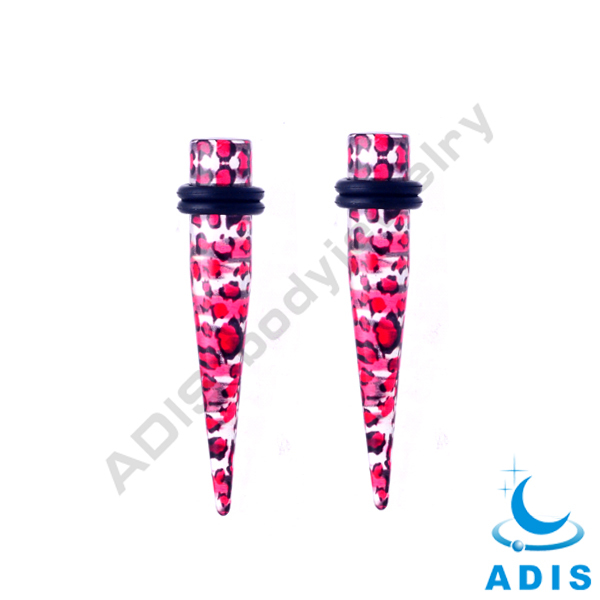 UV acrylic ear taper plugs jewelry with pretty color