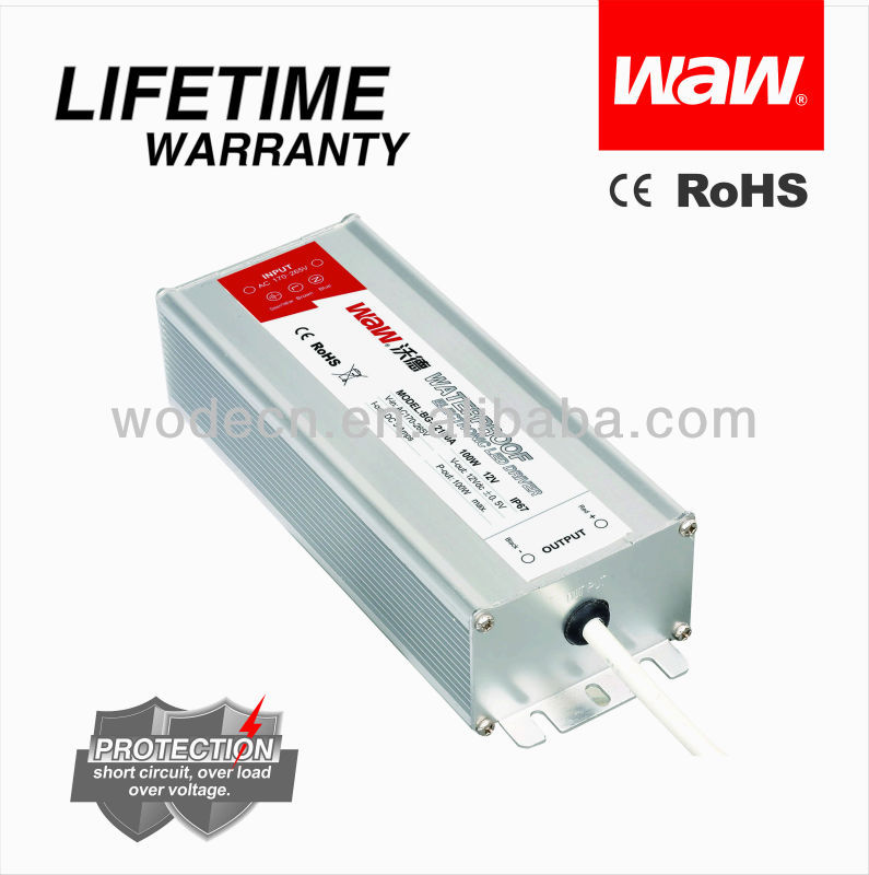 24v 100w BG waterproof Led drive with CE ROHS