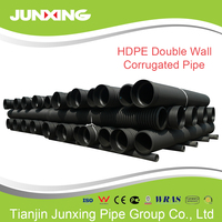 SN4/SN8 black large diameter plastic hdpe double wall corrugated drain pipe dn200-800mm