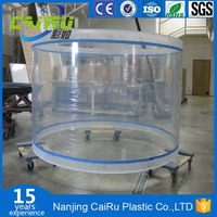 High quality Clear acrylic fish tank round