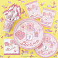 Birthday Party Baby Shower Party Favors Disposable Paper Napkins Cups Plates Invitations